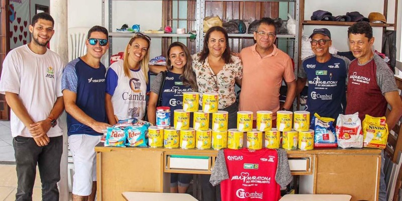 5 instituições são beneficiadas com a entrega de alimentos da Meia Maratona do Descobrimento em Porto Seguro