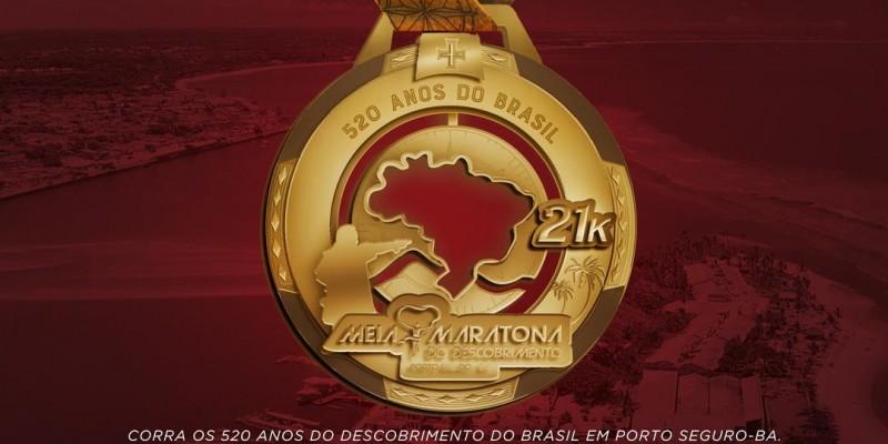 Troféus e medalhas da Meia Maratona do Descobrimento resgatam elementos históricos
