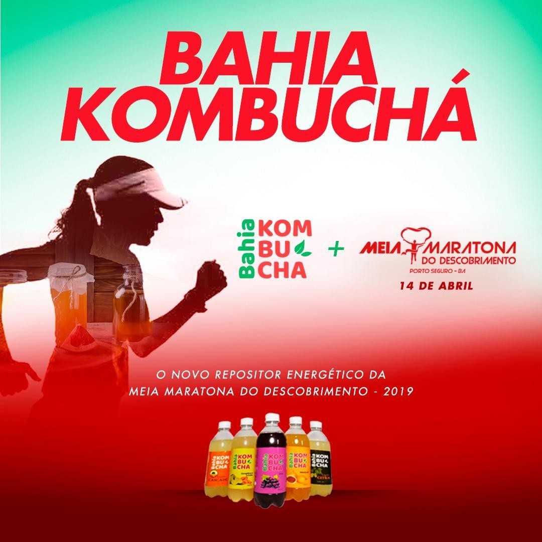 Bahia Kombucha garante hidratação da Meia Maratona do Descobrimento