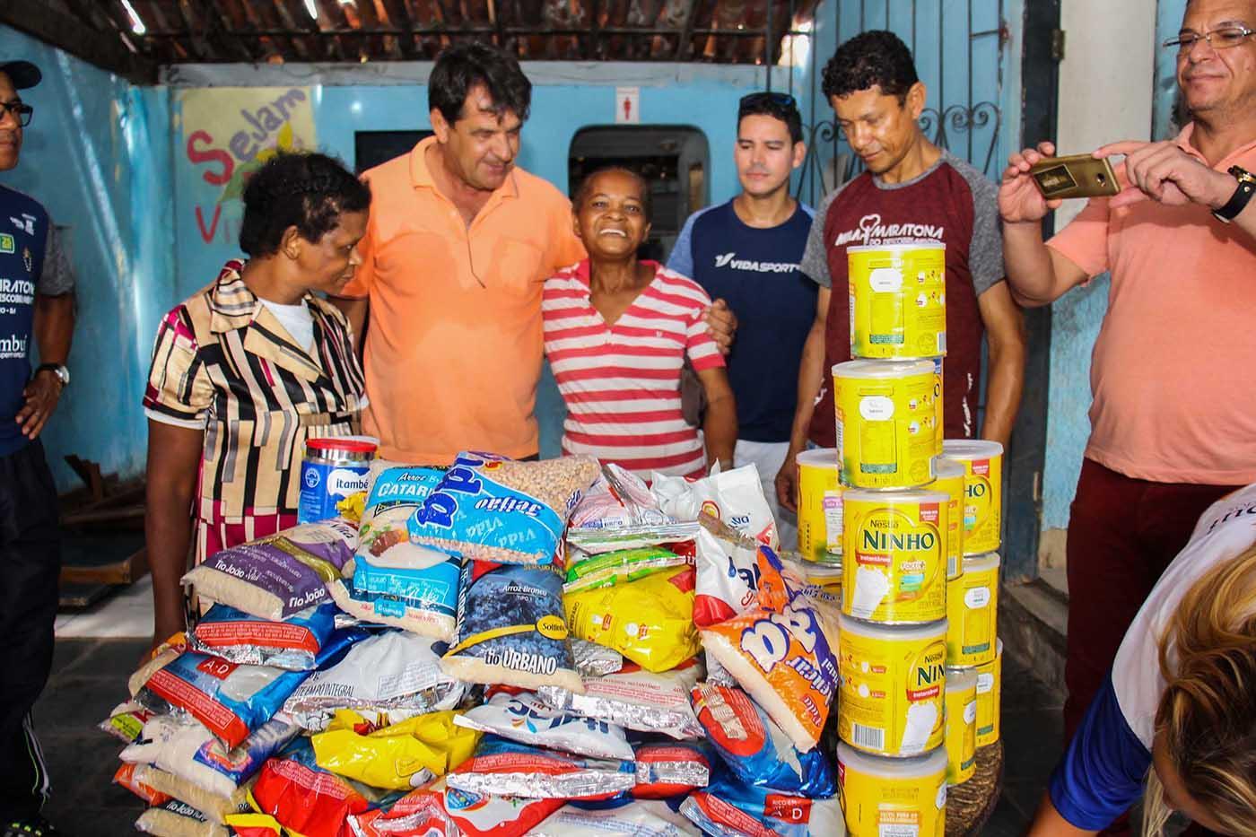 5 instituições são beneficiadas para entrega de alimentos da Meia Maratona do Descobrimento em Porto Seguro