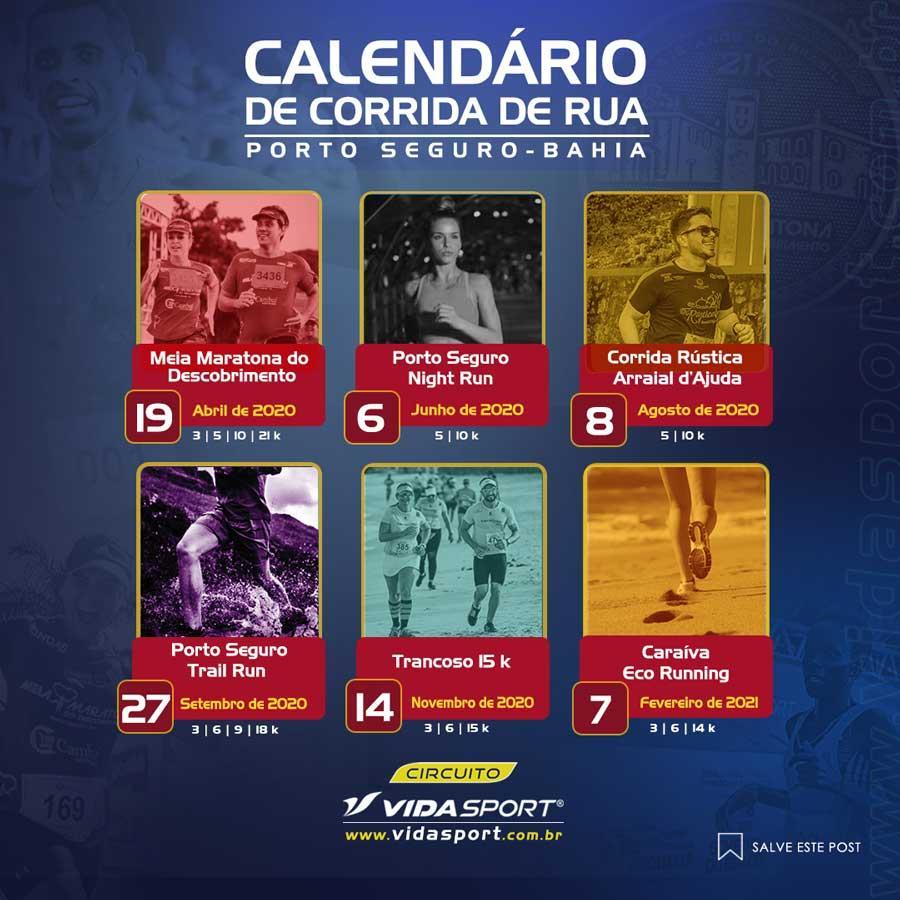 Vida Sport anuncia calendário com novas provas na região de Porto Seguro