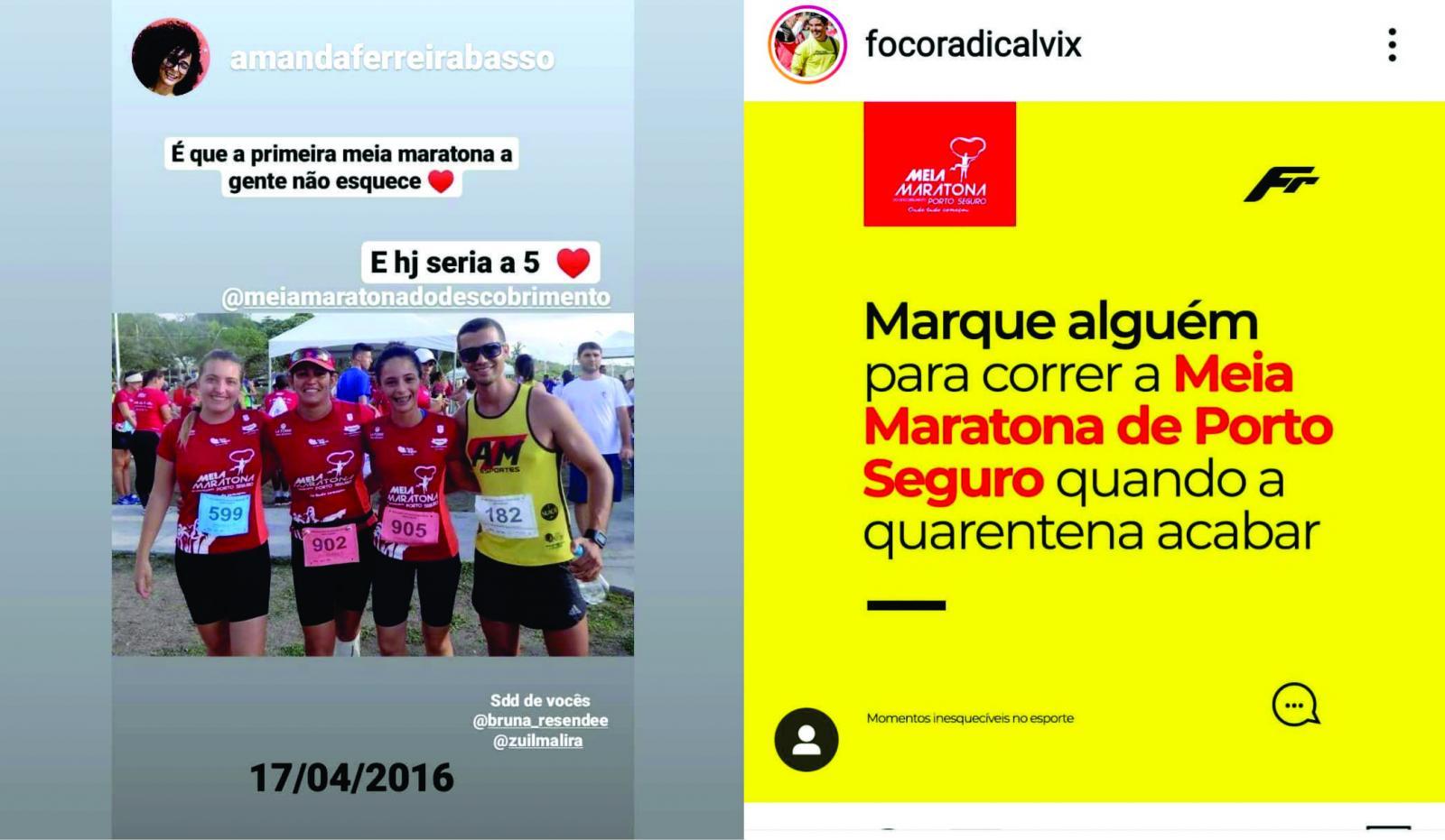 Corredores postam fotos e vídeos para homenagear a Meia Maratona do Descobrimento